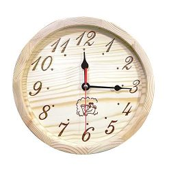 UWECAN Sauna Wooden Clock, Sauna Timer Clock Sauna Accessories Also for a Outdoor Clock –  ...