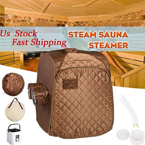 Mageshi 2L Portable Therapeutic Steam Sauna Spa Pot Folding Tent Fast Fold Slim Weight Loss Deto ...