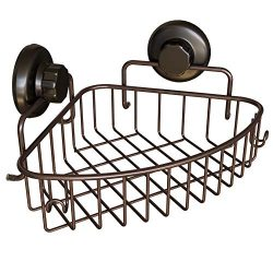 HASKO accessories Corner Shower Caddy with Suction Cup – 304 Stainless Steel Shower Shelf  ...
