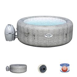Bestway 54295 SaluSpa AirJet 6 Person Honolulu Inflatable Outdoor Portable Hot Tub Spa with Cove ...